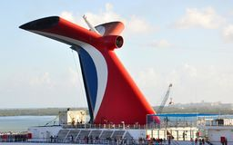 Carnival ship funnel Royalty Free Stock Images