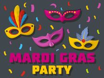 Carnival show logo, flat style. Carnival show logo. Flat illustration of carnival show vector logo for web Royalty Free Illustration