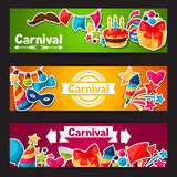 Carnival show and party banners with celebration Stock Photography