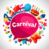 Carnival show and party greeting card with Royalty Free Stock Photo