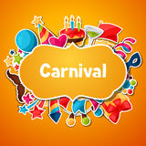 Carnival show and party greeting card with Royalty Free Stock Image