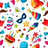 Carnival show and party seamless pattern  Stock Photo