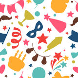 Carnival show and party seamless pattern with Stock Photos