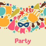 Carnival show and party seamless pattern with Stock Image