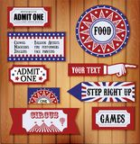 Carnival Signs Stock Photo