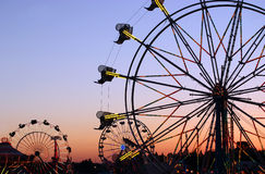 Carnival Silhouettes Stock Images