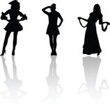 Carnival silhouettes Stock Photos