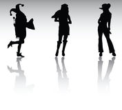 Carnival silhouettes Royalty Free Stock Photo