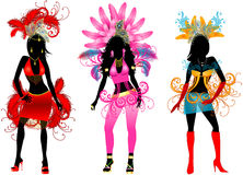Carnival silhouettes 3 Royalty Free Stock Photos