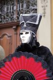 Carnival - silver mask. Carnival silver mask and black hat Stock Image