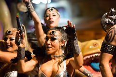 Carnival at Sitges in night.  Catalonia Stock Photography
