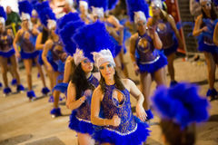 Carnival at Sitges in night. Spain Royalty Free Stock Photos