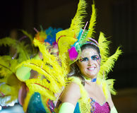 Carnival at Sitges in night time.  Catalonia, Spain Royalty Free Stock Photos
