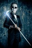 Carnival skeleton makeup royalty free stock photos