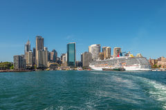 Carnival Spirit Cruise Ship docked at the Sydney Cruise Terminal Royalty Free Stock Photo