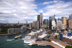 Carnival Spirit ocean liner docked in Sydney harbour Australia Royalty Free Stock Images