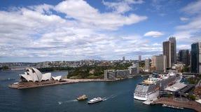 Carnival Spirit ocean liner docked in Sydney harbour Australia Stock Images