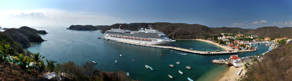 Carnival Splendor. Cruise ship in Bahias de Huatulco, Oaxaca, Mexico Stock Photo