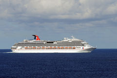 Carnival Splendor stranded at sea Royalty Free Stock Photography