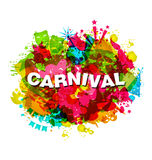 Carnival Splotch Abstract Grunge Watercolor Background. Carnival Splotch Abstract Grunge Style Watercolor Background - vector Royalty Free Stock Images