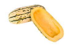 Carnival Squash. A colorful orange, yellow and green Carnival winter squash Stock Photos