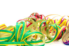 Carnival, streamers, Map Stock Image