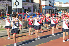 Carnival street parade majorettes Stock Photo