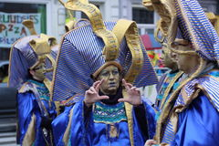 Carnival street performers in Maastricht Stock Photo