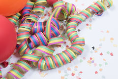 Carnival stuff on white background Stock Photography