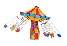 Carnival Swing Ride. Isolated on white background. 3D render Stock Images