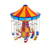 Carnival Swing Ride. Isolated on white background. 3D render Royalty Free Stock Photo