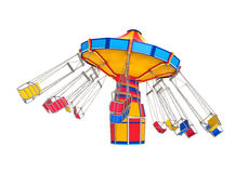 Carnival Swing Ride. Isolated on white background. 3D render Royalty Free Stock Images