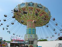 Carnival Swinger Ride. A Swinging Amusement Park or Carnival Ride Stock Photography