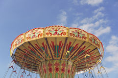 Carnival Swings. Top of Carnival Swings at a Fairground Stock Image