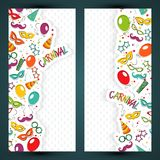 Carnival template Royalty Free Stock Images
