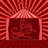 Carnival tent circus big sale vector illustration