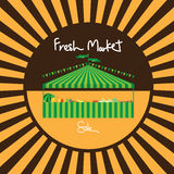 Carnival tent fresh market sale Royalty Free Stock Images