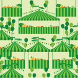 Carnival tent fruit vegetable seamless pattern Stock Photos