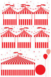 Carnival tent outdoor red set Royalty Free Stock Image