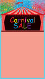 Carnival tent sale firework space template. This illustration is design drawing page of carnival tent with sale template fireworks decoration in space template Stock Photo