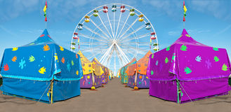 Carnival tents stock photos