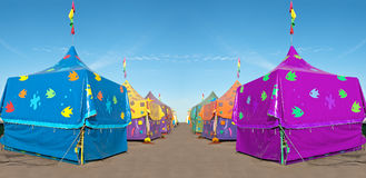 Carnival tents Royalty Free Stock Images