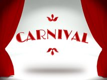 Carnival on theater stage, invitation Royalty Free Stock Images