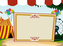Carnival theme blank board Royalty Free Stock Photo