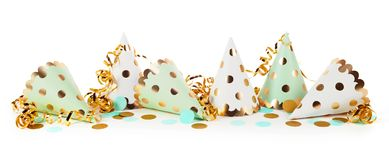 Carnival concept with party hats royalty free stock images