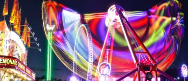 Long Exposure Carnival Thrill Rides Stock Image