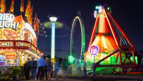 Long exposure carnival thrill rides Royalty Free Stock Images