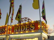 Carnival ticket booth. Carnival booth selling ride tickets Stock Photography