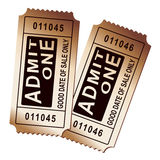 Carnival tickets. Vintage carnival tickets on top of each other Stock Images