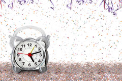 Carnival time - Early or too late. Alarm Clock Stock Photo